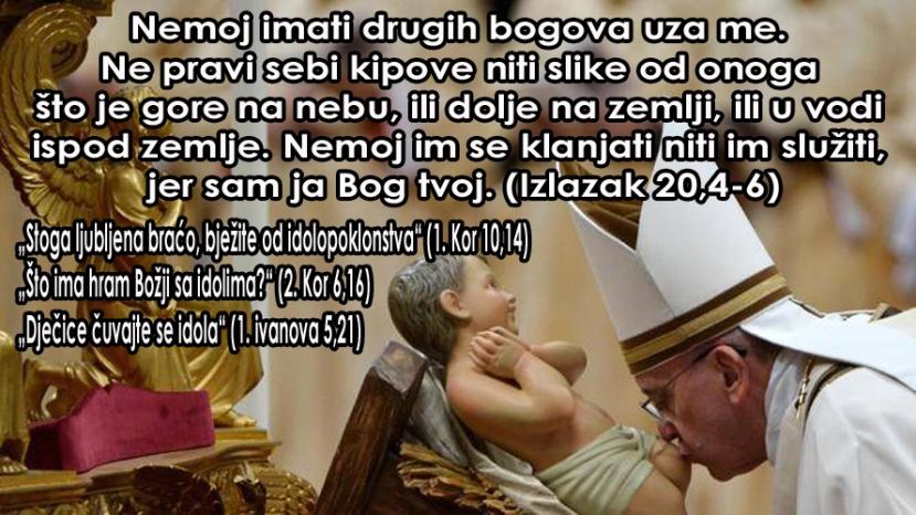 Zašto se KC ne drži svega onoga što joj piše u Bibliji? Čita li itko ovu Svetu knjigu i vodimo li se mi za 10 božjih zapovijesti kao i s poslanicama koje jasno kažu da je idolopoklonstvo grijeh? Zašto se crkva ne vodi mišlju o kreposti, siromaštvu i pokori?