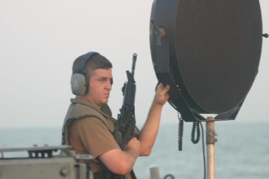 Brodski LRAD koji se koristi protiv napada modernih gusara.
