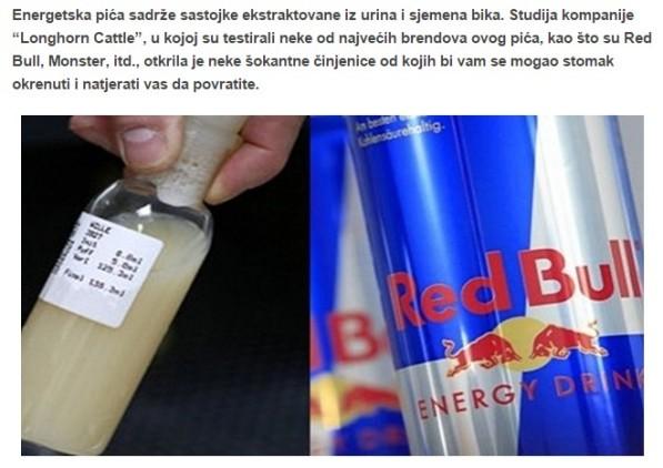 Neprovjerene informacije i bezobrazne laži svako malo dolaze do nas. Zbog čega bi kompanija koja se bavi uzgojem goveda i krava testirala Red Bull na bikovo sjeme?