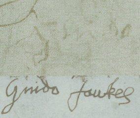 Potpis Guya fawkesa nakon gotovo mejsec dana mučenja, predočava sav užas kojeg je ovaj nesretni čovjek morao preživjeti.