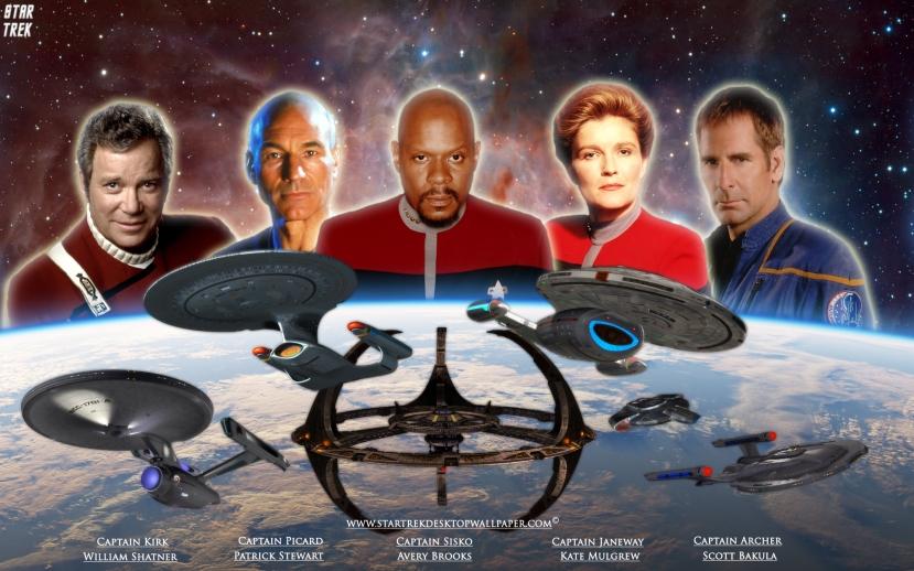 Kapetani uz različitih serijala Star Treka - Zvjezdanih Staza. S kojim se likom i serijalom možete najviše poistovjetiti?
