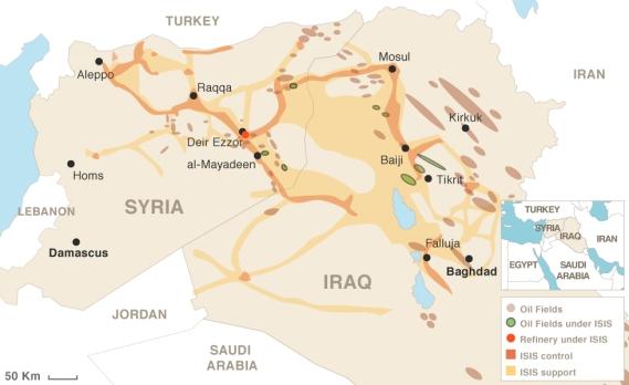 ISIS se nalazi isključivo na posručjima bogatim naftom.