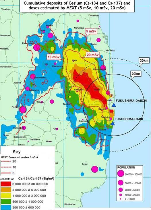 Količina radijacije je ogromna i izvan zabranjene zone u Fukushimi.