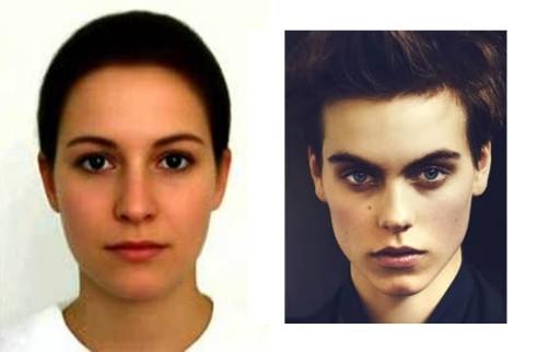 Na lijevoj slici djevojka koju bi vrlo lako mogli zamijeniti da je mladić, na desno mladić kojeg bi, uz dugu kosu, lako zamijenili za djevojku.