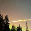 Ostaci eksplozije meteora nad Idahom.