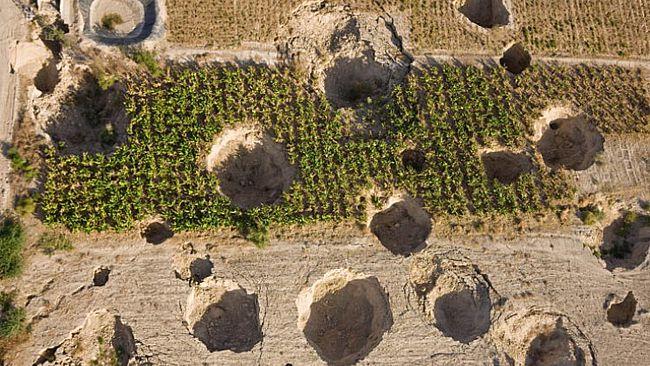 Pogled iz zraka na trenutačne ponikve u neposrednoj blizini Mrtvog mora.