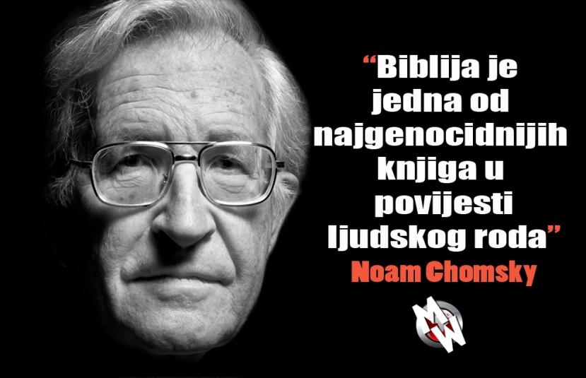 Jeste li pročitali koju svetu knjigu, uzmimo na primjer Bibliju, u njoj se ne nazire ništa osim ubijanja, klanja, silovanja, kamenovanja, democida i genocida. Gdje je tu ljubav?