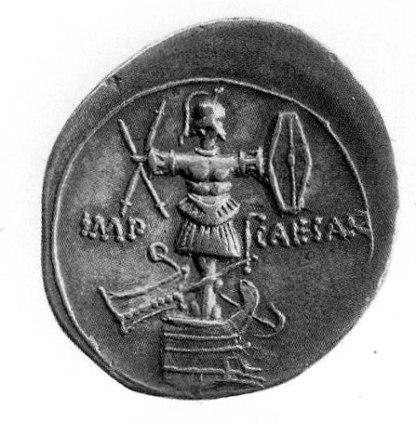 Novčić s Cezarovom efigijom.