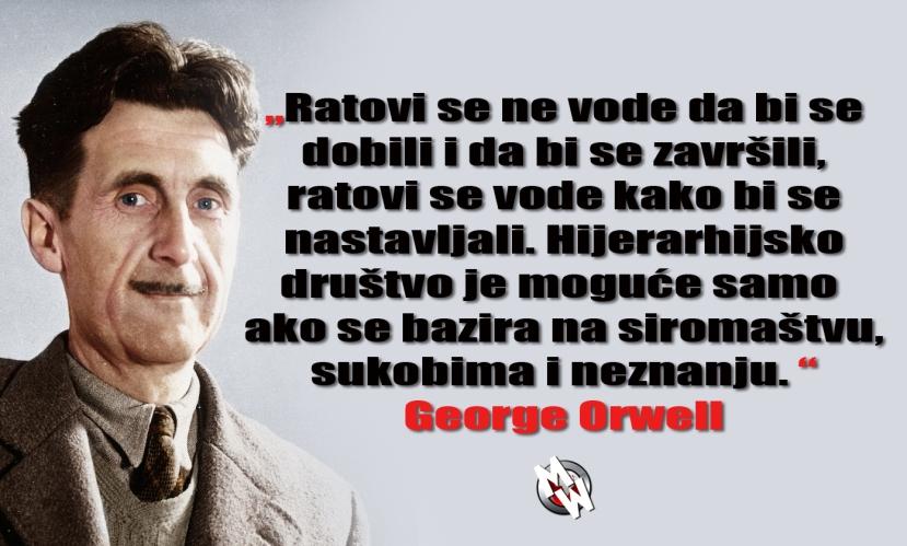 orwell ratovi i neznanje