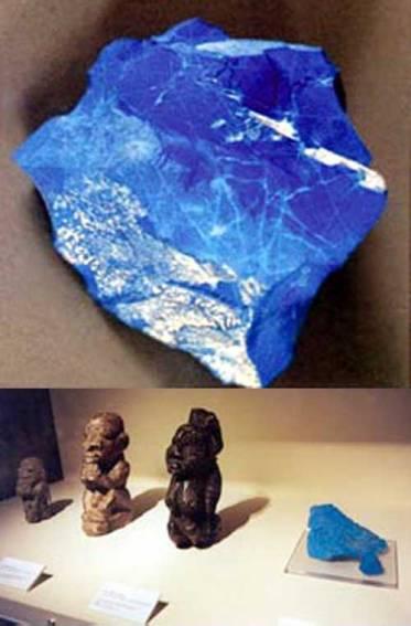 Nebesko kamenje Siera leonea je pronađeno zajedno s mnoštvom figurica koje prikazuju humanoidne entitete s   glavom guštera.