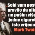 twain pušenje samo jedne cigarete