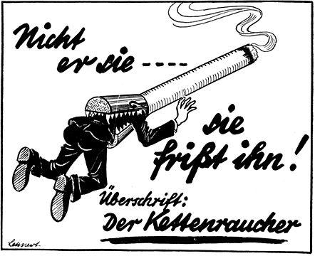 Najčešći dodoatak nacističkim novinama koje su propagirale prestanak pušenja.