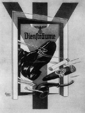 Jedan od plakata anti pušačke kampanje u Hitlerovoj Njemačkoj.