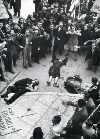 Operacija Gladio je s vremenom iz Itallije prenešena u druge zemlje Europe, na slici vidite ubijenje Grčke komuniste na koje su picali tajni CIA-ini agenti, kasnije je stvorena fama kako su nedjelo počinili ekstremisti.