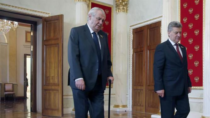 Češki predsjednik Miloš Zeman i Makedonski predsjednik Gjorge Ivanov u Kremlju za vrijeme dana pobjede 09.05.2015.