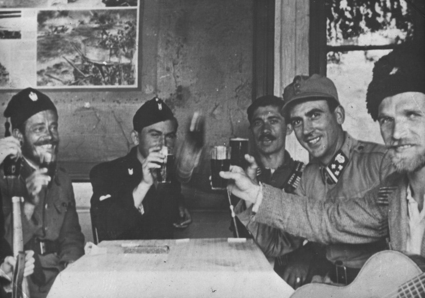 Zajednička pijanska četnika,. ustaša i domobrana. Je li nam teško prihvatiti istinu kako su ustaše i četnici bili saveznici u borbi protiv partizana i antifašista?