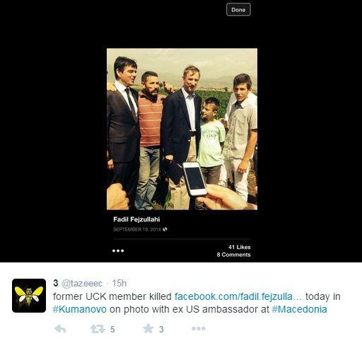 Nevjerojatno ali istinito Američki veleposlanik u Makedoniji na slici zajedno s UCK teroristom, kako je to moguće?