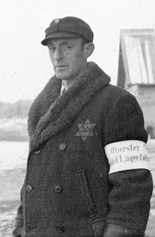 """Zapovijednik """"kapo"""" odreda u konclogoru Salaspils. Židovi u ovom rangu su obično počinjavali najstrašnije zločine za koje nacisti nisu željeli prljati ruke."""