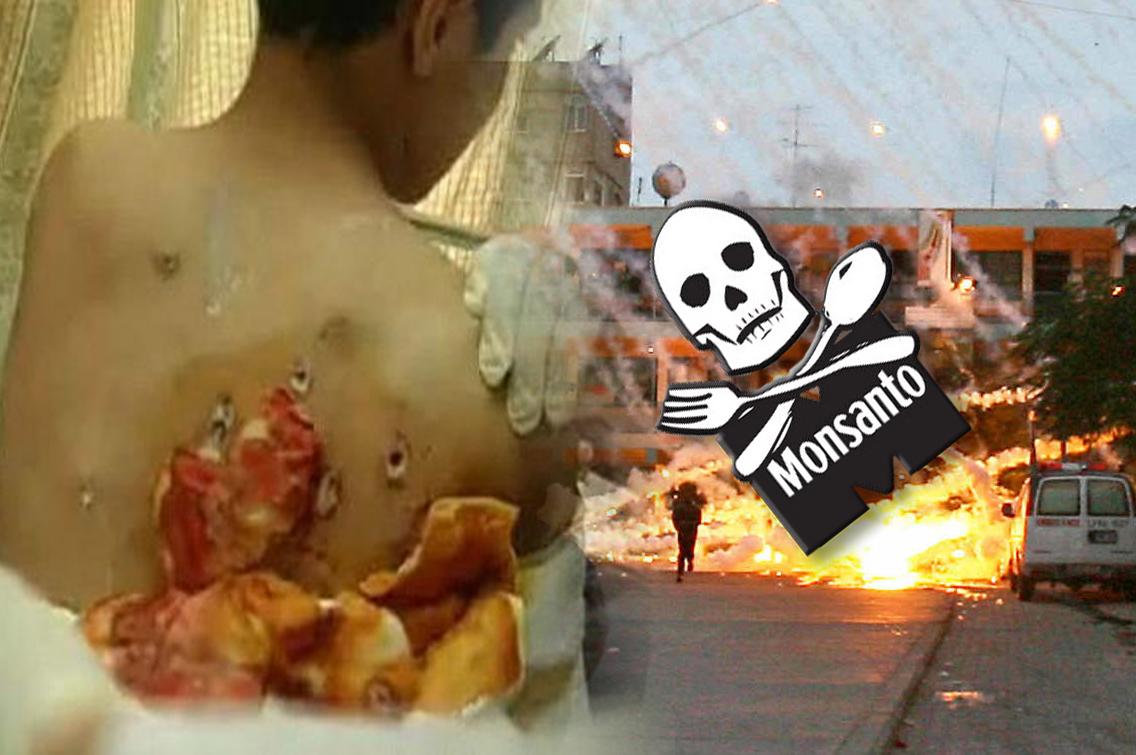 Monsanto snabdijeva Izrael s bijelim fosforom za ubijanje ljudi!