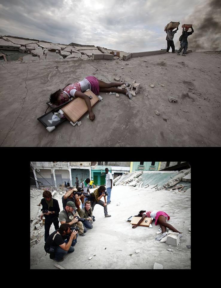 Djevojčica isrpljena 14-to satnim radom u kamenolomu, kamere je snimaju, no nikoga nije briga što će se s ovim djetetom dogoditi nakon što medijska vreva nestane.