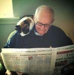 mačka čita