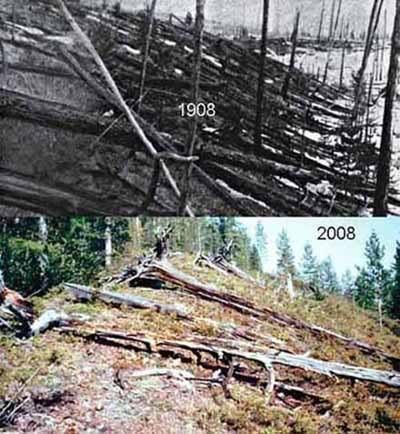 Nakon više od 100 godina od eksplozije u Tunguskoj, još uvijek su vidljivi tragovi uništenja sibirske tajge.