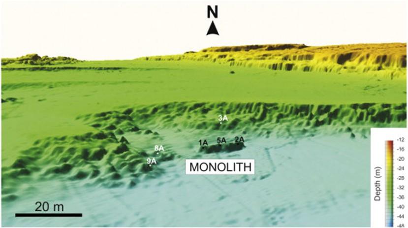 3D snimka s mjestom na kome se nalazi najnovija arheološka zagonetka.