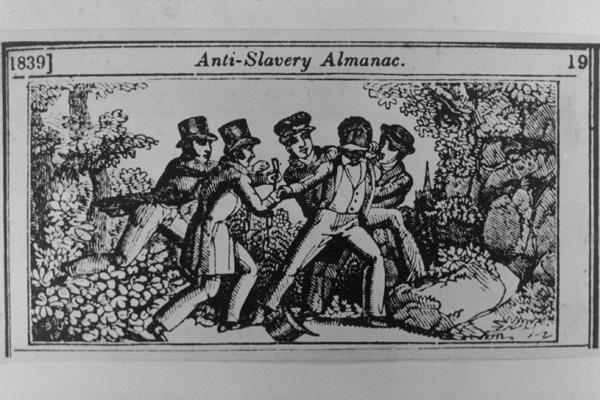 Prvi prikaz policije - robovske patrole iz almanaha kolonije Karoline.