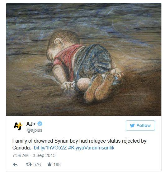 U samo jednoj jedinoj noći dvoje djece izbjeglica iz Sirije su progutali valovi, jedan dječačić je imao tri godine, a drugi pet, ostatku obitelji je Kanada odbila izbjeglički status, a nitko iz EU nije pokazao više samilosti prema onima koji su izgubili najviše. Je li ovaj svijet zaista igralište za sociopate na uštrp empatičnih ljudi?