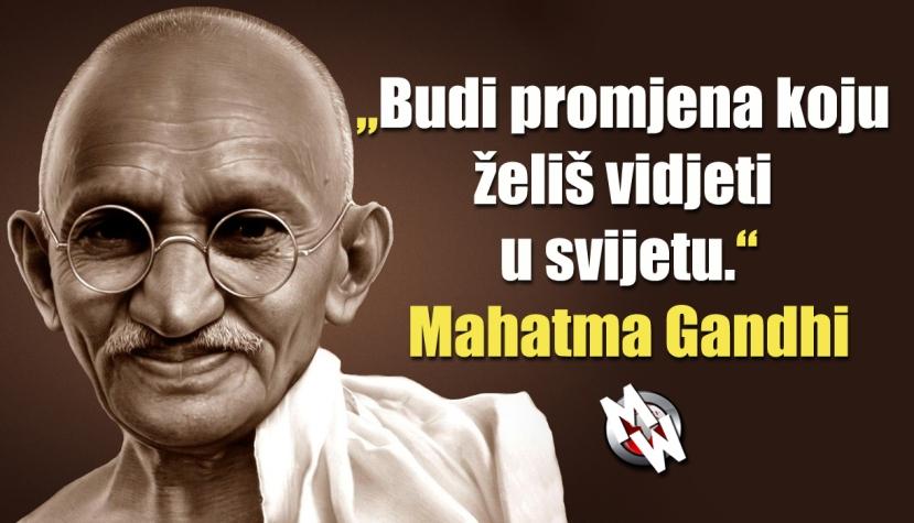 Slažete li se s Ghandijem ili ne?