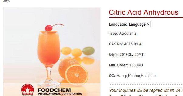 Marketing zasnovan na neznanju, na slici vidite tipičnu reklamu za limunsku kiselinu koja nema nikakvu vezu s agrumima.