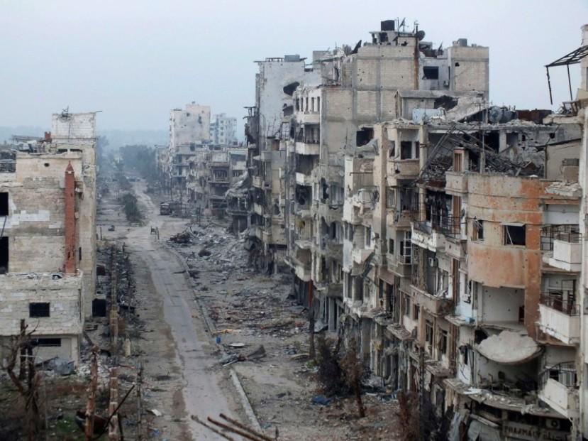 Homs jedan od gradova u Siriji kojeg su teroristi ISIS-a i NATO bombarderi u potpunosti uništili.