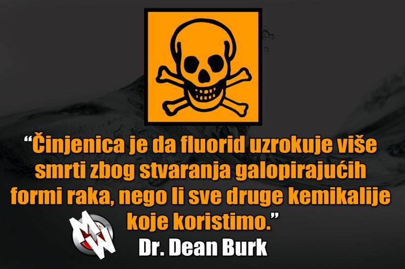 fluorid uzrokuje rak burk