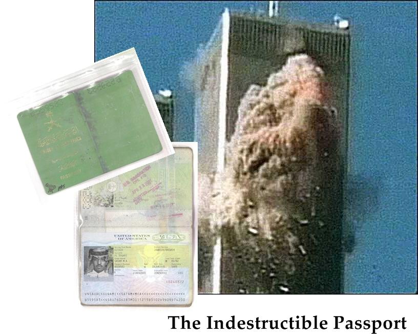 Kako je moguće da je vatra istopila čelične grede WTC-a dok nije niti dotakla saudijsku putovnicu navodnog teroriste koji se s jednim od zrakolova zabio u nesretne blizance?