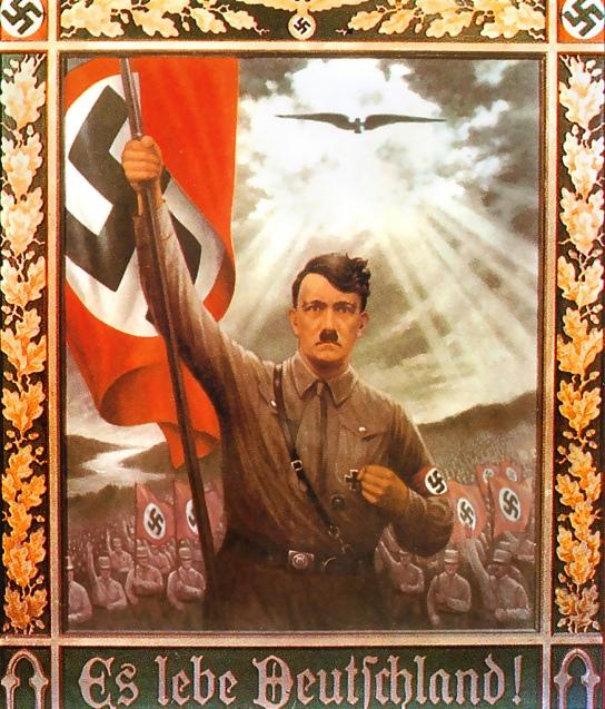 Hitler poput mesije, primjer nacističke propagande prije Hitlerovog dolaska na vlast.