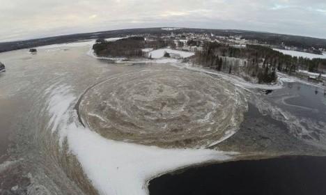 Veliki ledeni disk iz Švedske je nastao proje uobičajenog vremena.