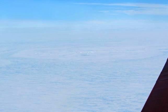 Još jedan kilometarski ledeni krug, no ovoja put razlog za njegovo nastajanje je došao iz svemira.