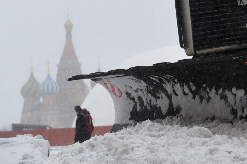 Moskva zatrpana pod snijegom u siječnju 2016.