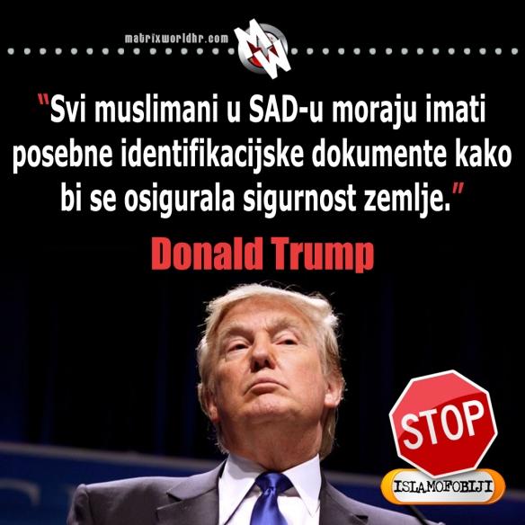 Identifikacija muslimana, Trump