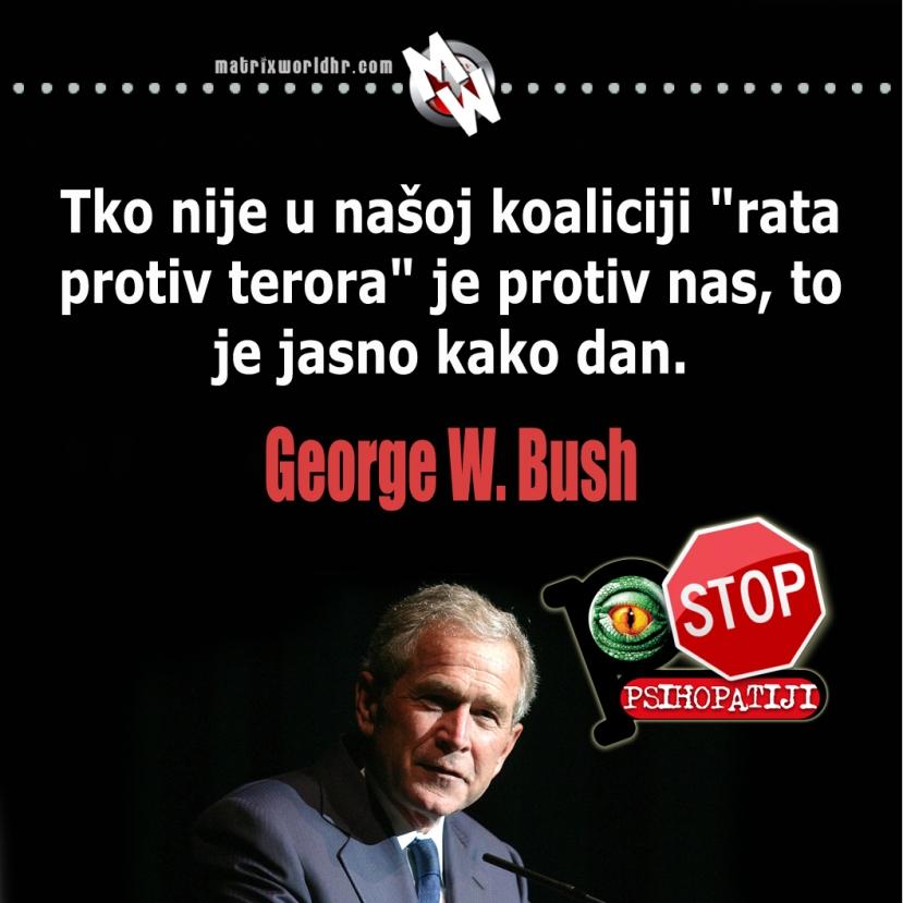 """Busheva verzija """"demokracije"""" se uspješno širi svijetom od 2001. godine."""