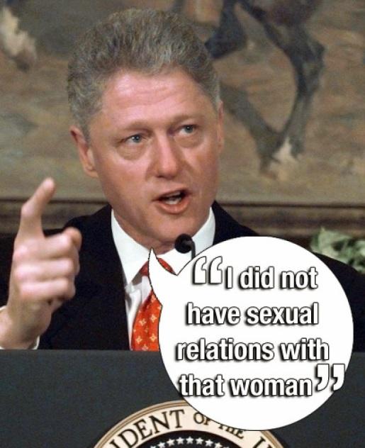 Jedna od najpoznatijih laži našeg vremena je i Clintonova tvrdnja da nije imao seksualne odnose s Monicom Lewinsky.