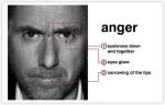 Ljutnja ima prilično nazubljeni početak i nikada ne dolazi na naglo. Dakle, ako netko sjedi lijepo i mirno a onda odjednom reagira u ljutnji tako da šakama bjesni, onda su šanse da je ljutnja varka. Ljutnja je emocija koju će mnogi ljudi pokušati sakriti dok ne naraste previše, a to je trenutak kad se ljutnja može pojaviti na licu kao mikro-izražaj. Također se može pojaviti kad netko govori o nekome, a kad oni pokušavaju sakriti svoj bijes prema nekome. Kada se pojavi ljutnja na licu, obrve su spuštene i skupljene, oči podsjećaju na bljesak svjetlosti  a crveni dio usana počne suziti jer su usne stisnute.