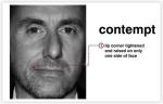 Prezir je jedini mikro-izraz koji se pojavljuje na jednoj strani lica, i obično se pojavljuje oko kutova usana. Ovaj izraz je vjerojatno jedan od suptilnijih izraza, ali uz malo prakse relativno je lako uočiti. Prezir se može dogoditi samo nakon što je netko rekao laž, ili netko od višeg autoriteta vam može pokazati prezir kada vam naređuju. Kada se pojavi prezir na licu pojaviti će se na lijevoj ili desnoj strani lica. Kada netko pokazuje prezir kut jedne strane usne će se učvrstiti i protegnuti se prema ušima.