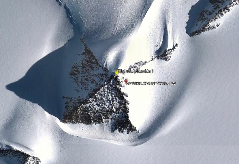 Četverostrana piramidalna struktura na Antarktici.