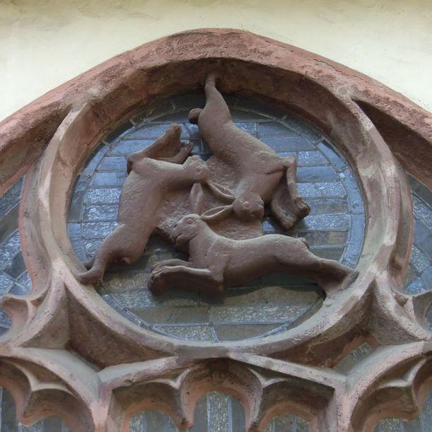 Prikaz svetog trojstva na katedrali u Paderbornu.