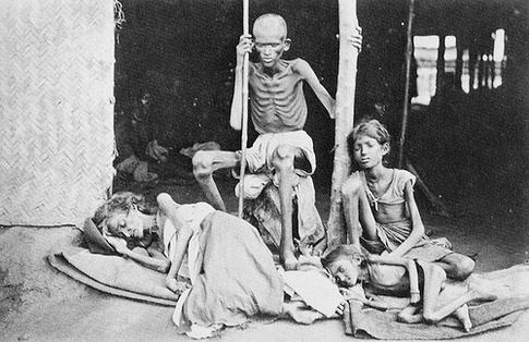 Izladnjeli Bengalci tijekom gladi iz 1943.