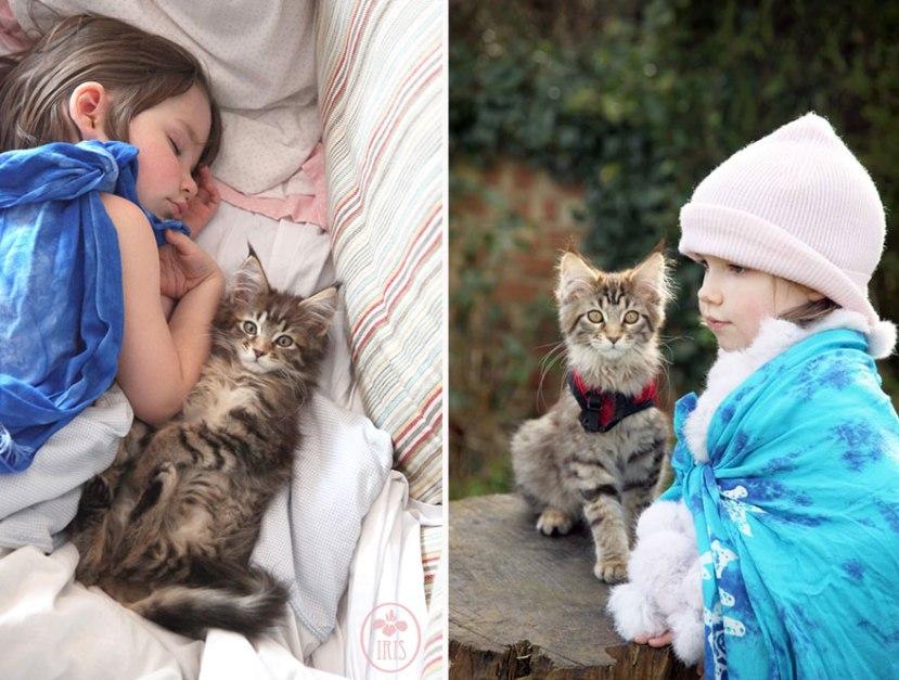 Iris i mačka Thula su prijateljice od prvog trena kada su se upoznale.