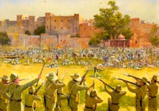 Prikaz pokolja u Amristaru.
