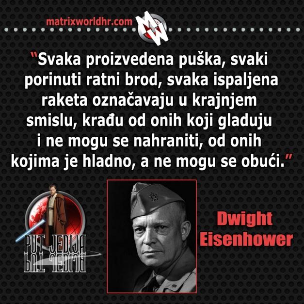 Rat protiv gladnih, Eisenhower