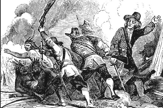 """""""Rat protiv Pequota"""" je zapravio bio masakr koji su Britanci počinili nad plemenom ovih Indijanaca. Pa ipak, propaganda je činila svoje, a zločinci su postajali heroji i mučenici."""